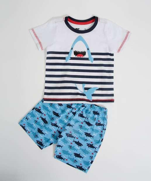 Image_Pijama Infantil Estampa Tubarão Listrado MR