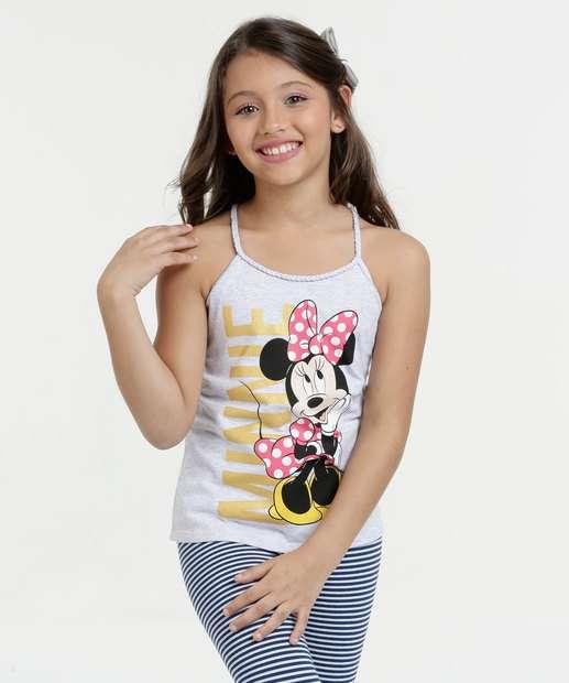 Image_Blusa Infantil Estampa Minnie Alças Finas Disney
