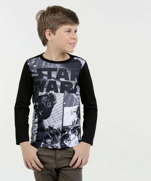 Image_Camiseta Infantil Estampa Star Wars Manga Longa Disney