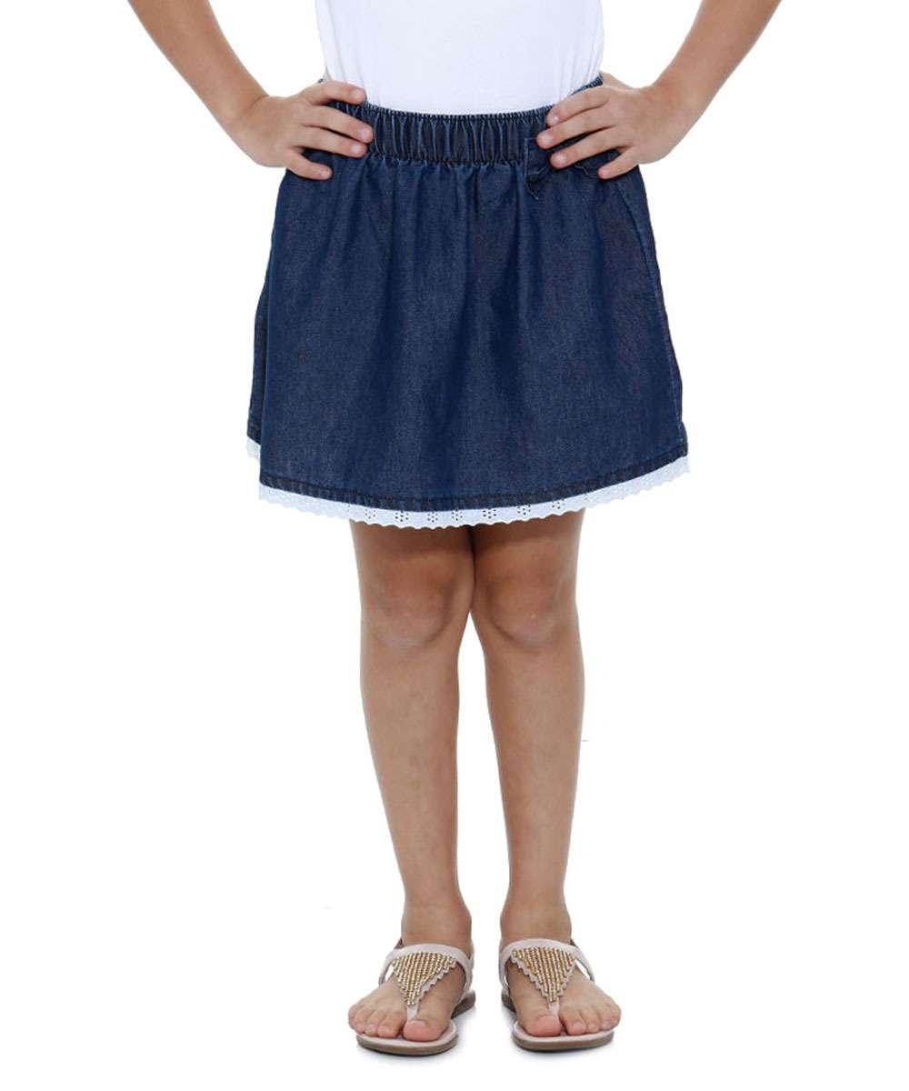 Image_Saia infantil jeans laço detalhe laise Marisa