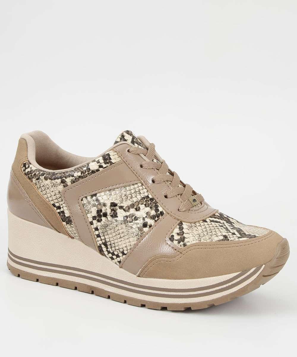 Tênis Feminino Sneaker Animal Print Dakota