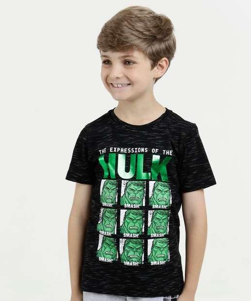 Image_Camiseta Infantil Hulk Flamê Manga Curta Marvel