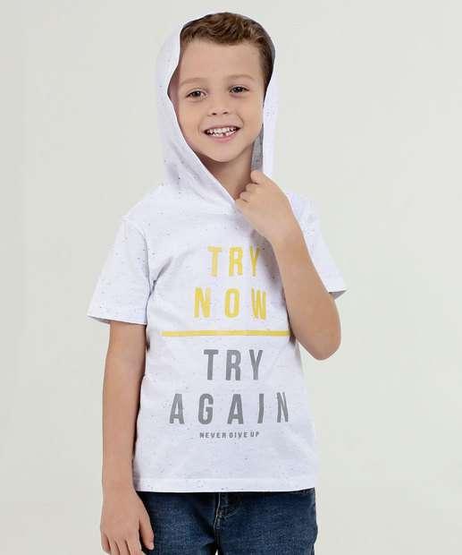 Image_Camiseta Infantil Estampa Frontal Capuz Manga Curta Marisa