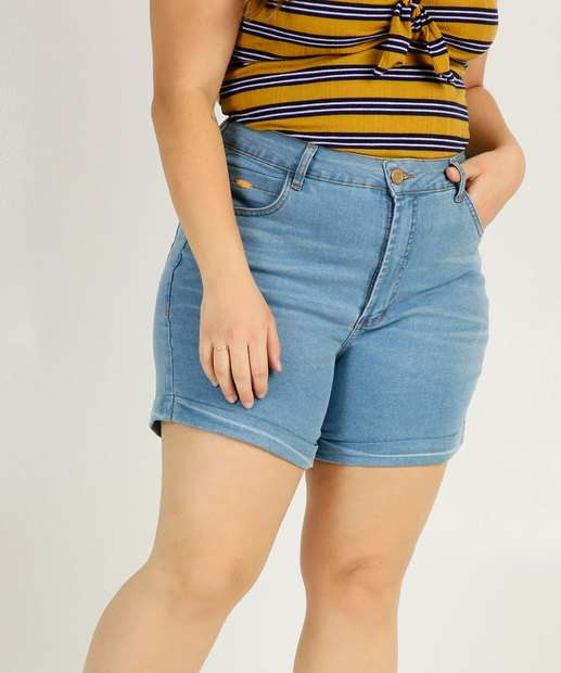 Image_Short Plus Size Feminino Barra Dobrada Uber Jeans