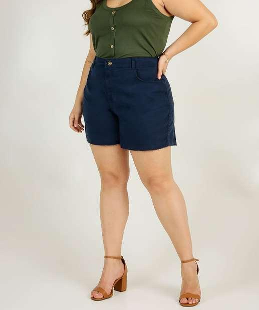 Image_Short Plus Size Feminino Sarja Cintura Alta Marisa
