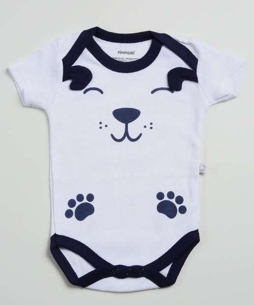 Image_Body Infantil Bebê Estampada Pimpolho Tam 0 a 8 Meses