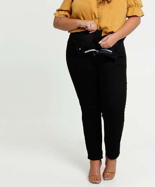 Image_Calça Plus Size Feminina Sarja Modeladora