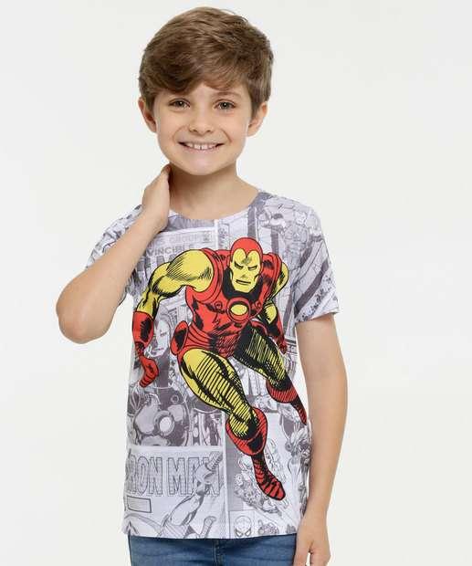 Image_Camiseta Infantil Estampa Homem de Ferro Manga Curta Marvel