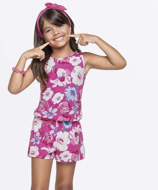 Image_Macaquinho Infantil Estampa Floral Sem Manga