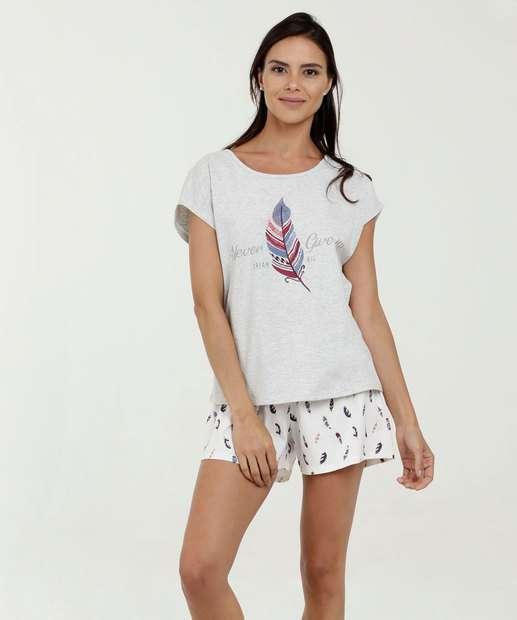 Image_Pijama Feminino Short Doll Estampa Pena Marisa