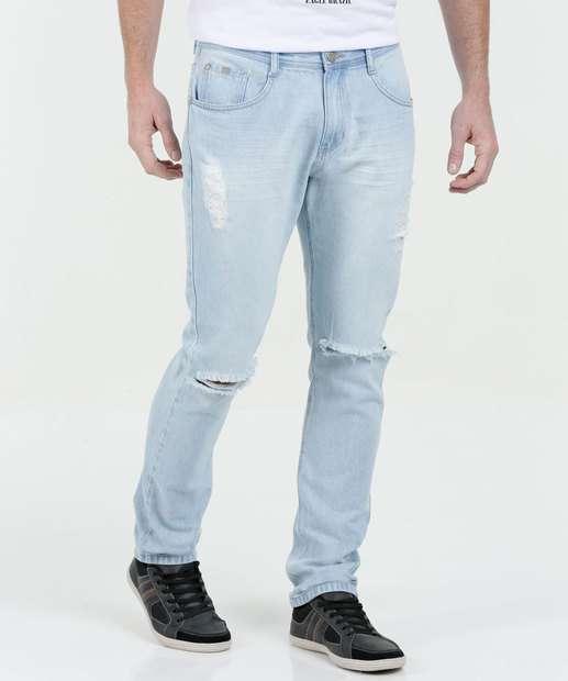 Image_Calça Masculina Jeans Slim Rasgos Marisa