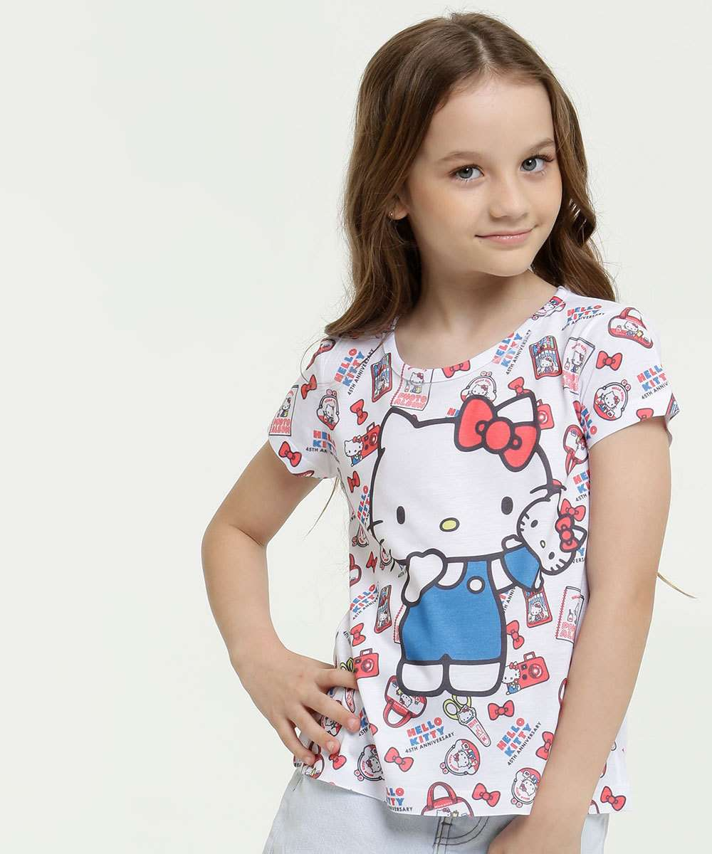 Blusa Infantil Estampa Hello Kitty Sanrio