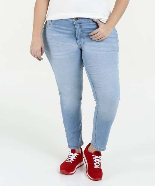 Image_ Calça Feminina Jeans Cintura Alta Cigarrete Plus Size Biotipo