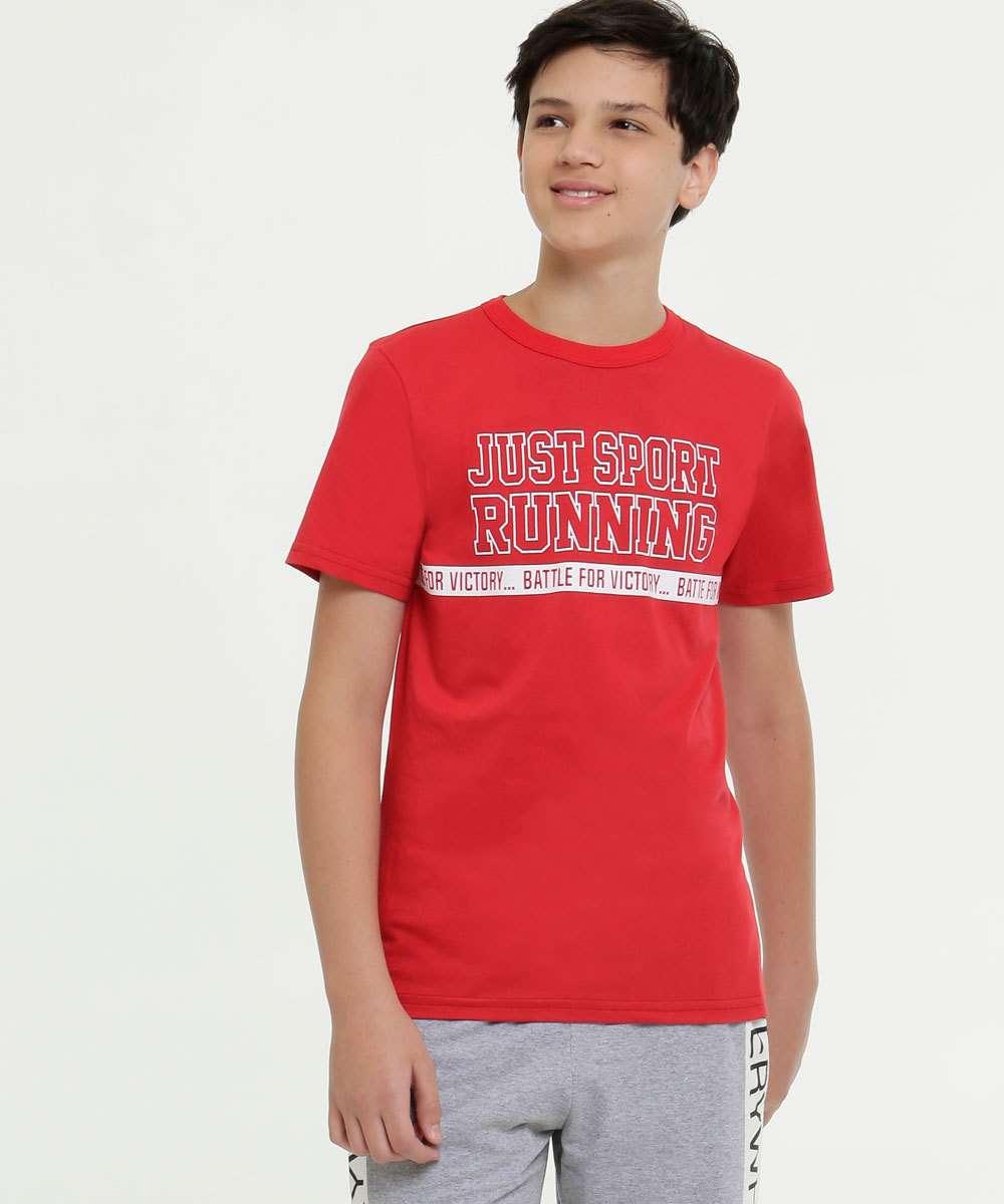 Camiseta Juvenil Estampa Frontal Manga Curta
