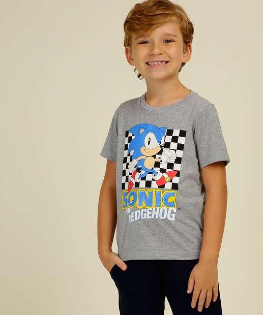 Image_Camiseta Infantil Manga Curta Estampado Sonic Tam 4 a 10