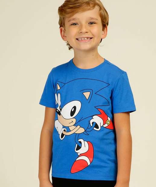 Image_Camiseta Infantil Manga Curta Sonic Tam 4 a 10