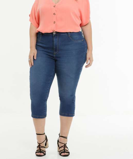Image_Calça Plus Size Feminina Jeans Capri