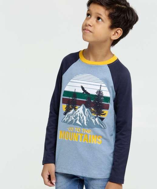 Image_Camiseta Infantil Estampa Montanhas Manga Longa MR