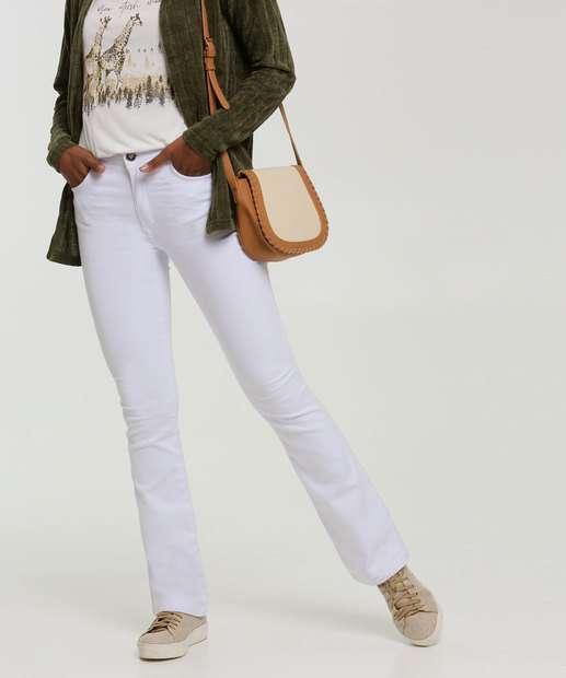 Image_Calça Feminina Sarja Flare Zune Jeans By Sabrina Sato