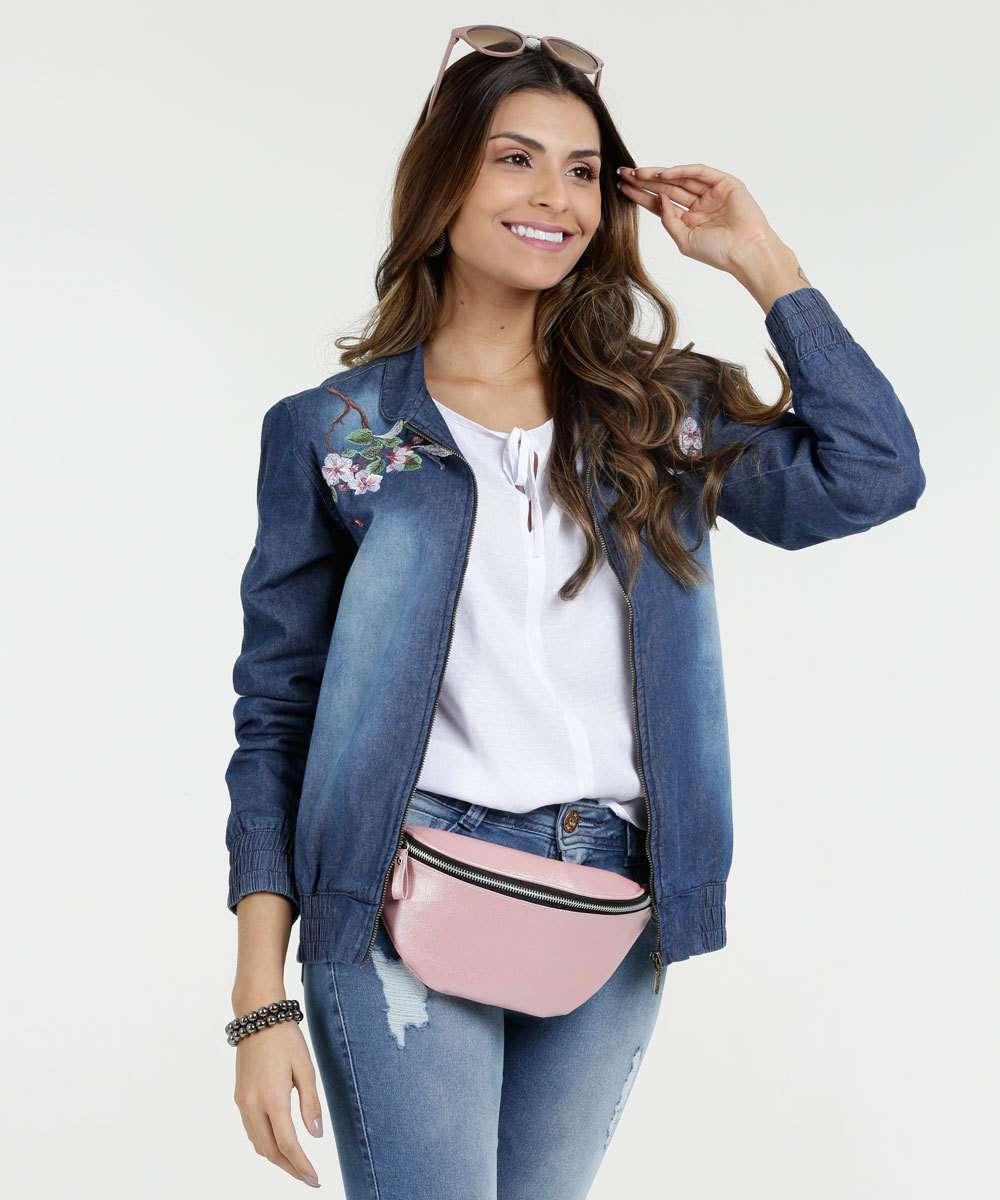 202613ad4 1; 2; 3; 4; 5; 6; 7; 8. Compartilhar. adicionar aos favoritos produto  favoritado. 29% OFF. Jaqueta Feminina Jeans Bomber Bordado Floral Mix Jeans