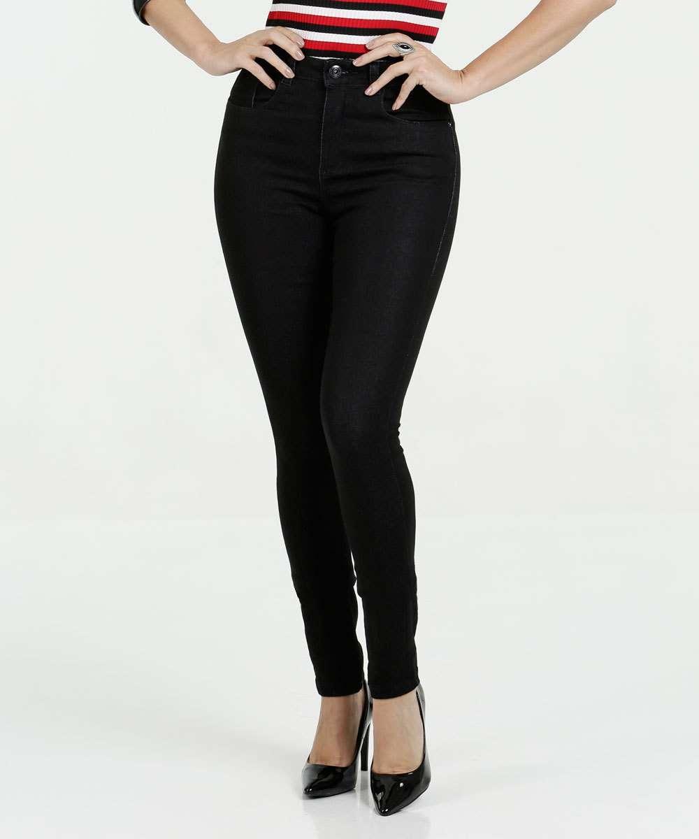 Calça Feminina Jeans Cintura Média Skinny Razon