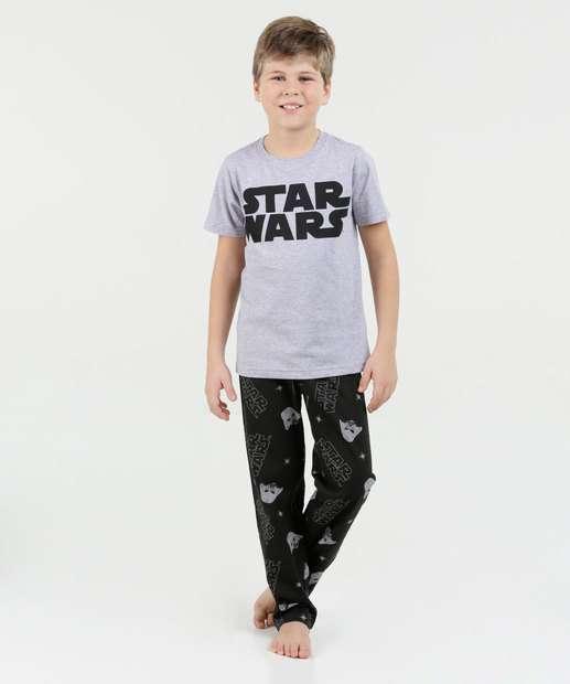 Image_Pijama Infantil Estampa Star Wars Manga Curta Disney