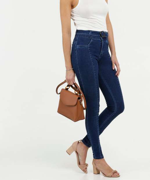 Image_Calça Jeans Skinny Cinto Feminina Biotipo