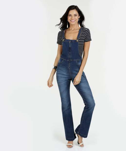 Image_Jardineira Feminina Jeans Stretch Flare Razon