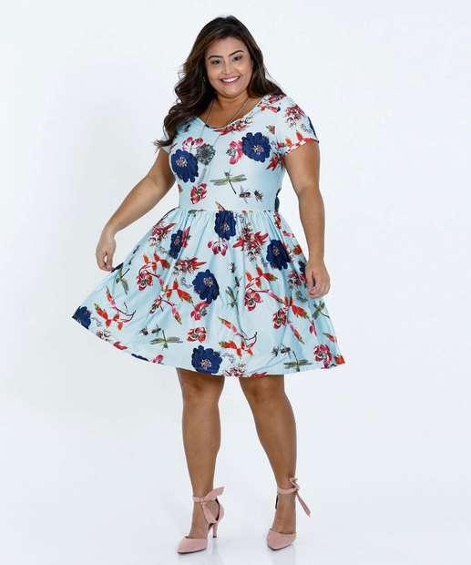 Image_Vestido Feminino Floral Strappy Plus Size Texarte