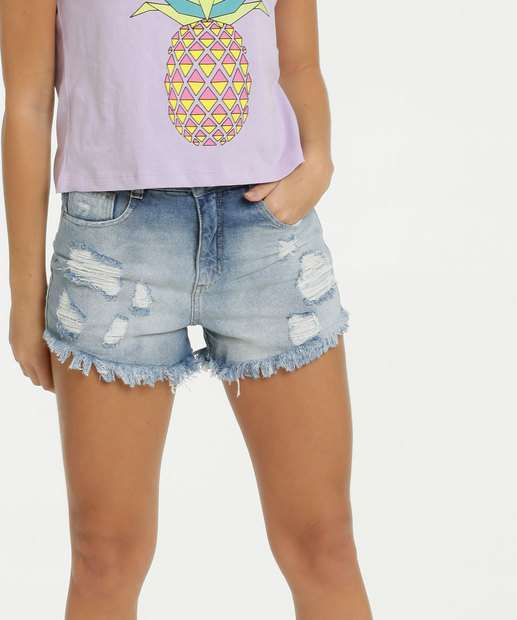 Image_Short Feminino Jeans Destroyed Biotipo