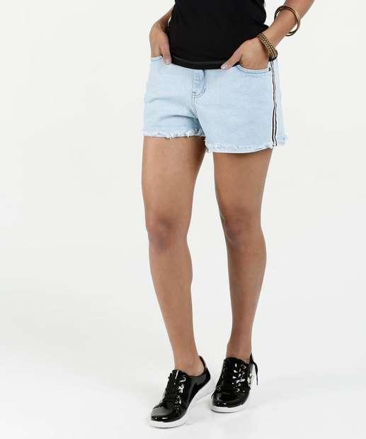 Image_Short Feminino Jeans Listras Lurex Marisa