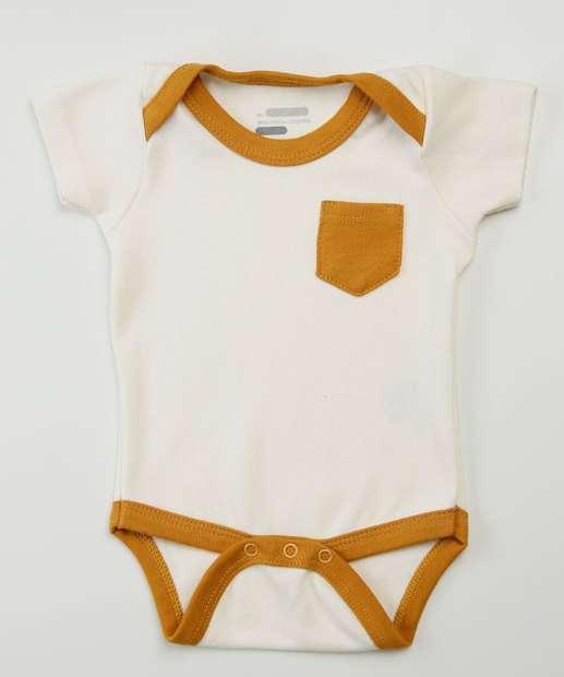 Image_Body Infantil Bebê Bolso Manga Curta Tam 0 a 8 Meses