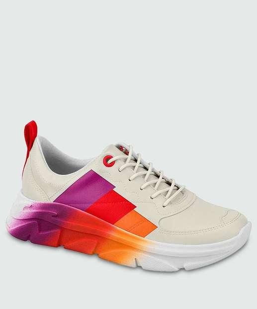 Image_Tênis Feminino Chunky Sneaker Listras Moleca 5656202