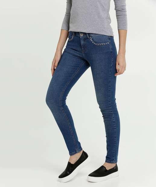Image_Calça Feminina Jeans Strass Stretch Skinny Marisa
