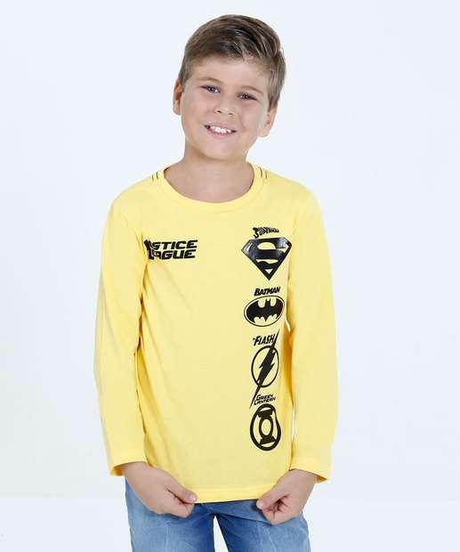 Image_Camiseta Infantil Estampa Super Heróis Liga da Justiça