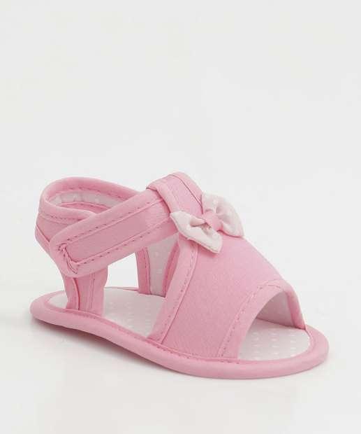 Image_Sandália Infantil Bebê Laço Velcro Pimpolho