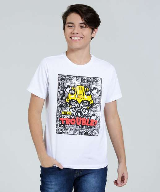 Image_Camiseta Juvenil Bumblebee Transformers Manga Curta Hasbro