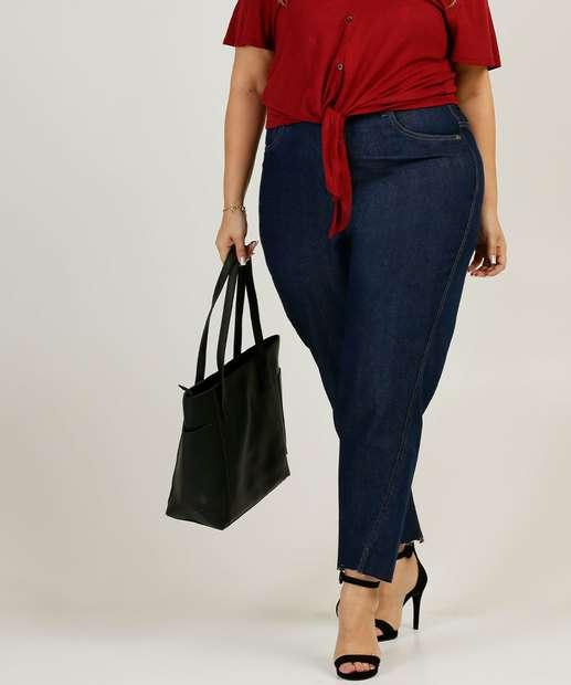 Image_Calça Plus Size Feminina Mom Jeans Cintura Alta