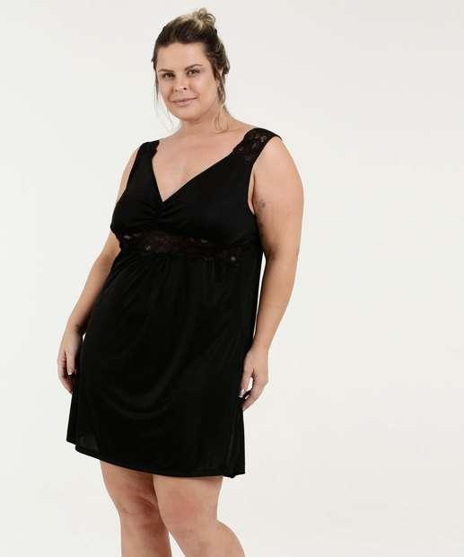 Image_Camisola Feminina Sensual Liganete Renda Plus Size Marisa