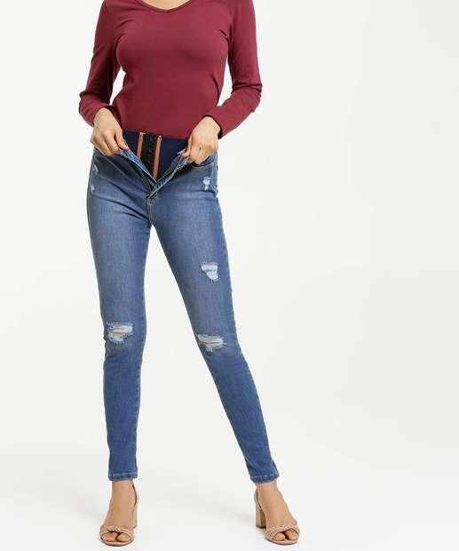 Image_Calça Jeans Skinny Feminina Super Lipo Modeladora Sawary