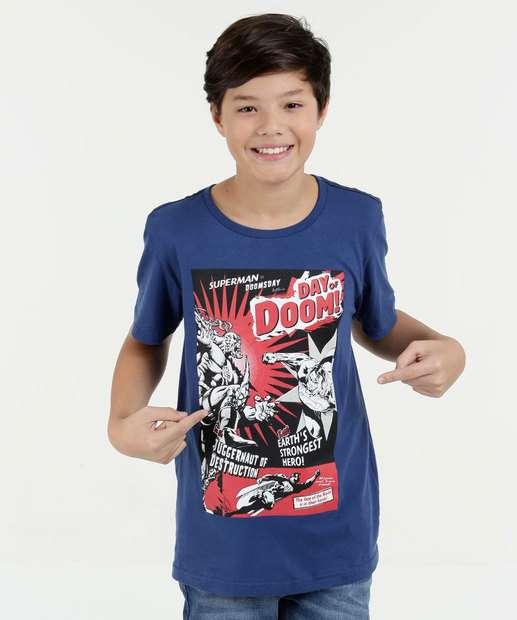 Image_Camiseta Juvenil Super Homem Manga Curta Liga da Justiça