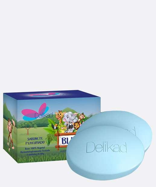 Image_Kit Sabonetes em Barra Infantil Safari Blue Delikad 2x90gr