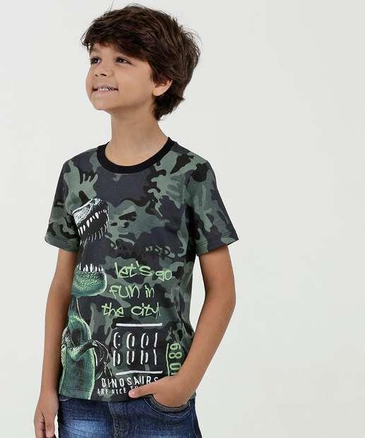 Image_Camiseta Infantil Estampa Camuflada Manga Curta MR