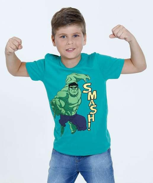Image_Camiseta Infantil Estampa Hulk Manga Curta Marvel