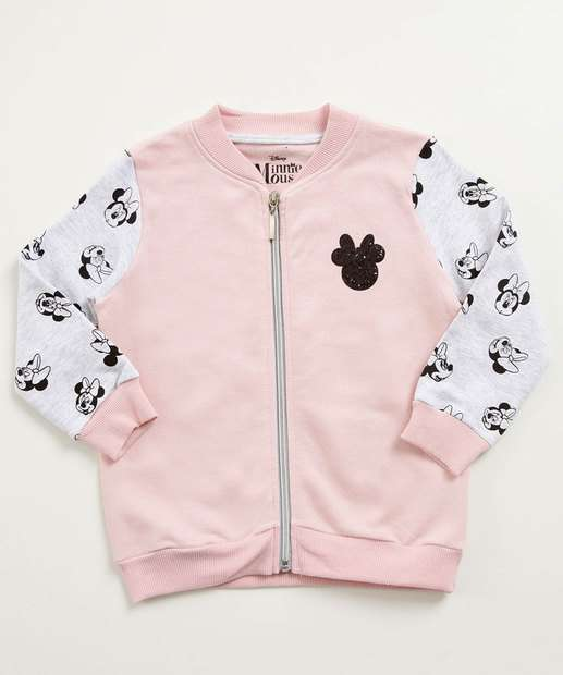 Image_Casaco Infantil Moletom Estampa Minnie Disney