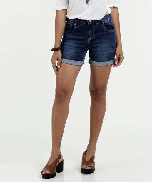 Image_Short Feminino Jeans Barra Dobrada Sawary