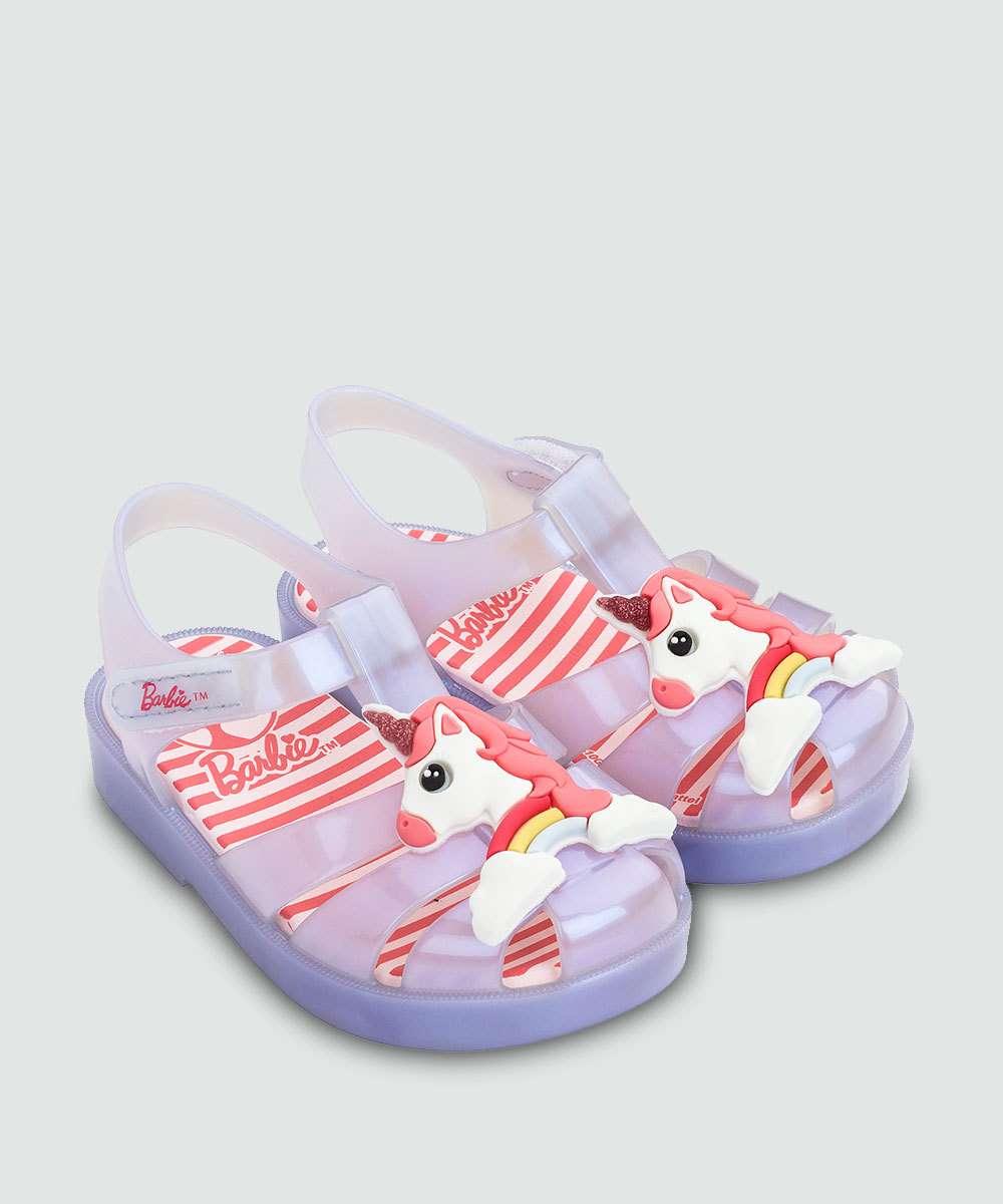 700f4730ac Sandália Infantil Bebê Barbie Love Grendene Kids 21875