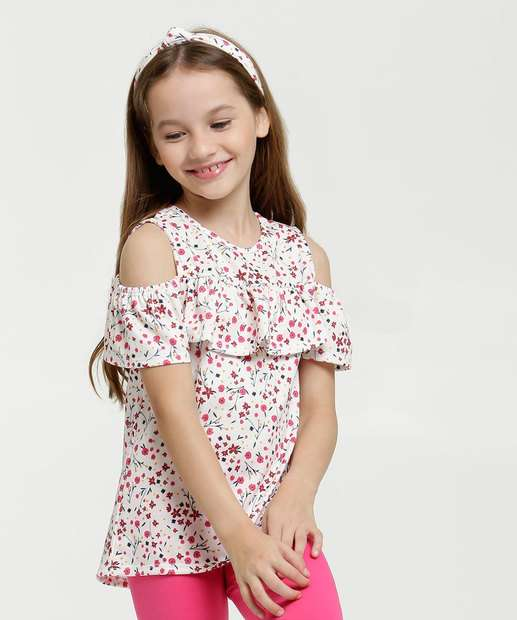 Image_Blusa Infantil Open Shoulder Estampa Floral Marisa