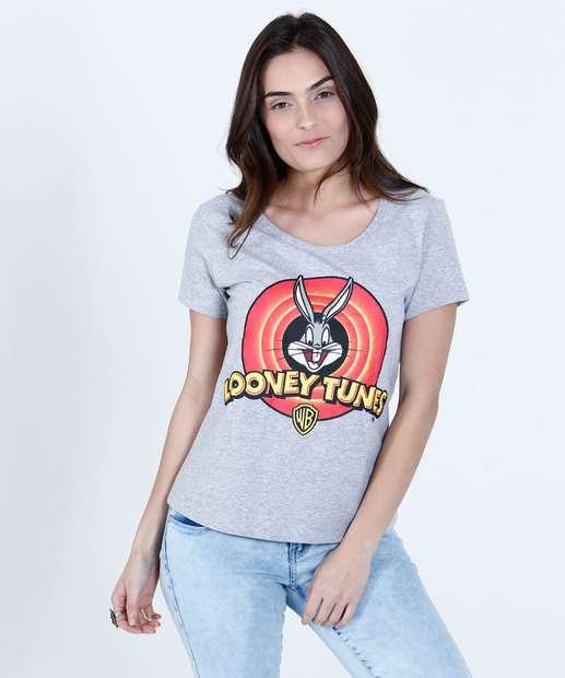 Image_Blusa Feminina Estampa Pernalonga Looney Tunes