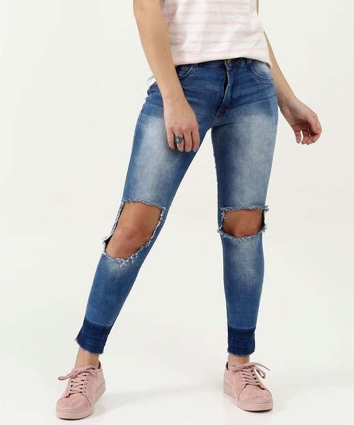 Image_Calça Feminina Jeans Destroyed Cigarrete Biotipo